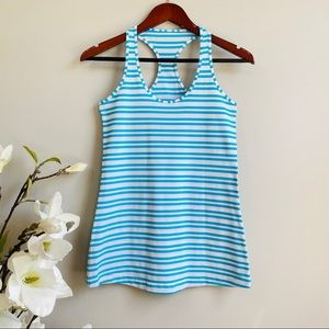 Lululemon CRB tank in blue and white stripes
